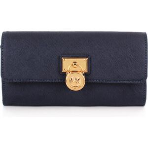 Michael Kors Kleinleder - Hamilton LG Flap Wallet Navy - in blau - Kleinleder für Damen