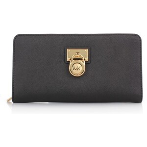 Michael Kors Kleinleder - Hamilton LG ZA Wallet Black - in schwarz aus Saffianoleder - Kleinleder für Damen