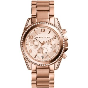 Michael Kors Armbanduhr - Blair Rose Gold-Tone Chronograph Watch - in rosa - Armbanduhr für Damen