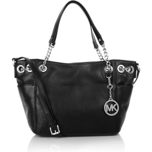 Michael Kors Tasche - Jet Set Chain Item MD Pocket Shoulder Tote Black - in schwarz aus Glattleder - Henkeltasche für Damen