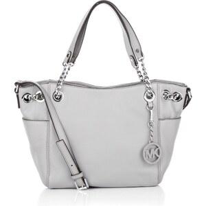 Michael Kors Tasche - Jet Set Chain Item MD Pocket Shoulder Tote Pearl Grey - in grau aus Glattleder - Henkeltasche für Damen