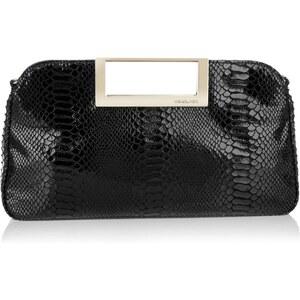 Michael Kors Tasche - Berkley LG Clutch Embossed Leather Black - in schwarz aus Lackleder - Abendtasche für Damen