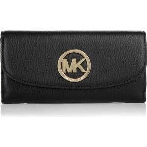 Michael Kors Kleinleder - Fulton Flat Trifold Wallet Black - in schwarz aus Glattleder - Kleinleder für Damen