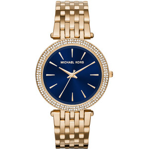 Michael Kors Armbanduhr - Darci Gold-Tone/Dark Blue Watch - in gold - Armbanduhr für Damen