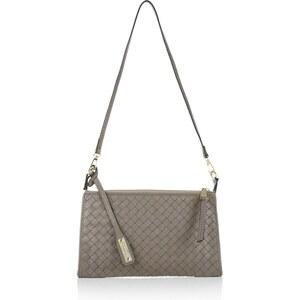Abro Tasche - Pluma Nappa Leather Handbag Zinc - in beige, grau - Abendtasche für Damen