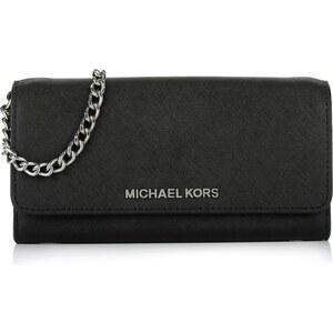 Michael Kors Tasche - Jet Set Travel Wallet On A Chain Black - in schwarz - Umhängetasche für Damen