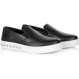 Prada Loafers & Slippers - Rhinestone Slip On Nero/Bianco - in schwarz - Loafers & Slippers für Damen
