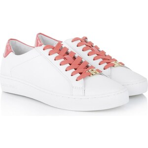 Michael Kors Sneakers - Irving Lace Up Sneaker Optic White/Watermelon - in rot, weiß - Sneakers für Damen
