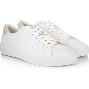 Michael Kors Sneakers - Irving Lace Up Sneaker Optic White/ Pale Gold - in gold, weiß - Sneakers für Damen