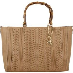 Trussardi Jeans Tasche - Braided Bamboo Shopper Cappuccino - in braun - Umhängetasche für Damen
