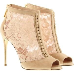 Dolce&Gabbana Pumps - Keira Spuntata Suede + Pizzo Catania Rosa - in rosa - Pumps für Damen