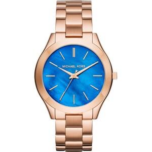 Michael Kors Armbanduhr - Slim Runway Ladies Watch Pearlescent Blue/Rosegold - in blau, rosa - Armbanduhr für Damen