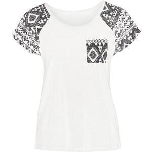 RAINBOW Shirt kurzer Arm in weiß (Rundhals) für Damen von bonprix