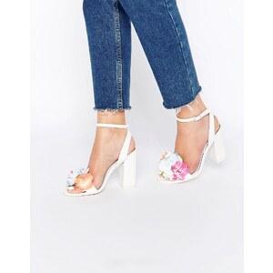 ASOS - HUMOUR - Sandalen mit Absatz - Weiß