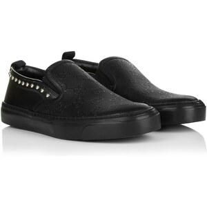 Gucci Loafers & Slippers - Board Slip-On Sneakers Nero - in gold, schwarz - Loafers & Slippers für Damen