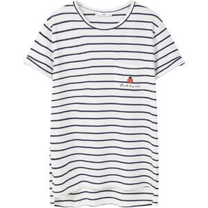 MANGO Baumwoll-T-Shirt Mit Viskose