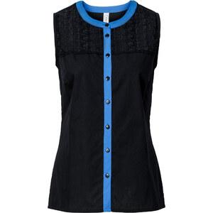 RAINBOW Bluse ohne Ärmel in schwarz (Rundhals) von bonprix