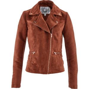 bpc bonprix collection Veste en synthétique imitation cuir velours marron manches longues femme - bonprix