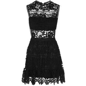 Topshop **Häkel-Minikleid mit tief sitzender Taille von Rare - Schwarz