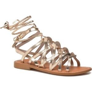L'Atelier Tropézien - Cachette - Sandalen für Damen / gold/bronze