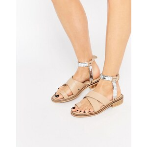 ASOS - FLY BY - Sandales plates style western - Beige