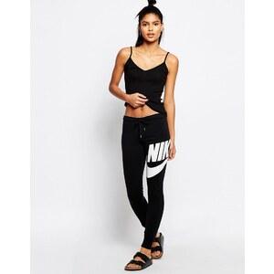 Nike - Rally - Enge Jogginghose mit Logos an der Taille und vorn - Schwarz
