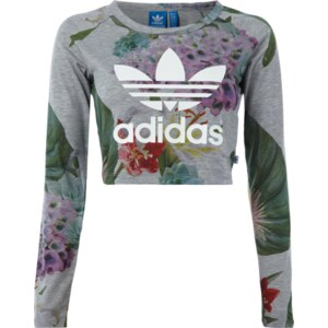 adidas Originals Crop-Top mit floralem Muster