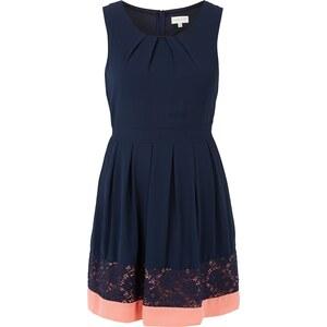 Apricot Kleid mit Taillenpasse zum Binden und Falten