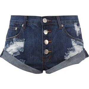 Glamorous Jeansshorts im Destroyed Look mit Knopfleiste