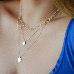 Lesara Mehrreihige Halskette mit Anhängern Goldfarben