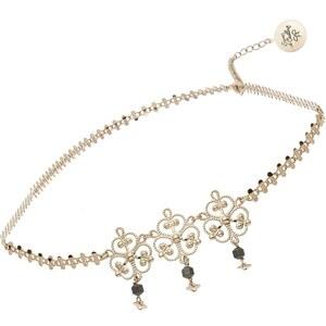 Secrets de Cailloux Headband en or 24K doré à l'or fin et orné de perles en hématite