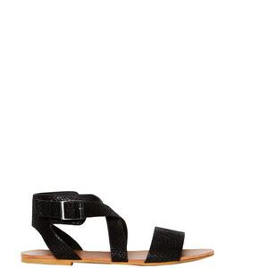 Sandales plates aspect animal Etam
