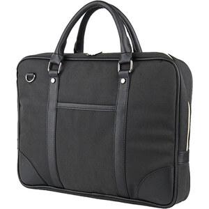 Lesara Klassische Businesstasche mit Schulterriemen - Schwarz