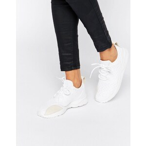 adidas Originals - ZX Flux Verve - Baskets en tissu ajouré - Blanc cassé - Blanc