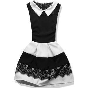 Kleid mit Kragen schwarz/weiß 0752