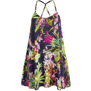 AX Paris Women's Tropical Print Swing Dress - Navy