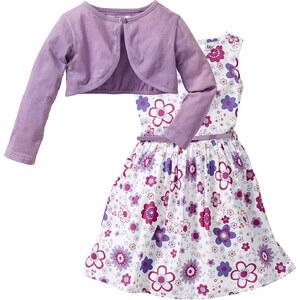 bpc bonprix collection Robe + ceinture + boléro (Ens. 3 pces.) blanc manches longues enfant - bonprix
