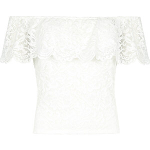 Tally Weijl Top Blanc en Dentelle