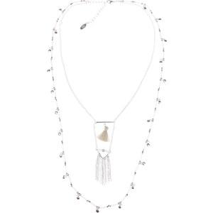 Breal Sautoir perles pompons franges
