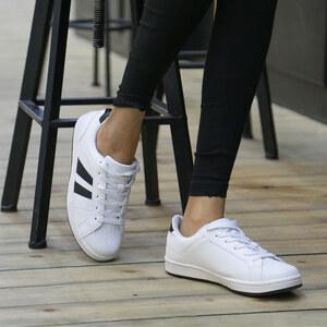 Lesara Retro-Sneaker in Leder-Optik - 38