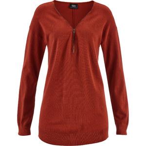 bpc bonprix collection Pull léger en maille rouge manches longues femme - bonprix