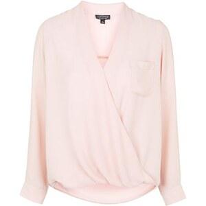 Topshop Drapierte Bluse - Rosé