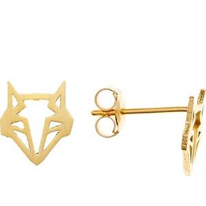 7 bis Origami renard - Boucles d'oreilles - doré