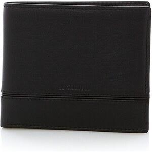 Le Tanneur Porte billets poche monnaie rabat - noir