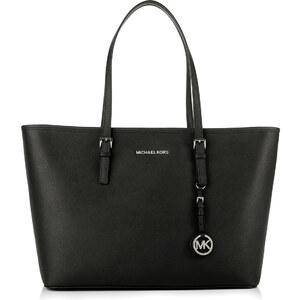 Michael Kors Sacs à Bandoulière, Jet Set Travel MD TZ Multifunction Tote Black en noir