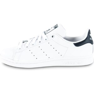 adidas Tennis Stan Smith Blanche Et Bleu Marine Femme