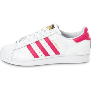 adidas Baskets/Tennis Superstar Foundation Junior Blanche Et Rose Femme