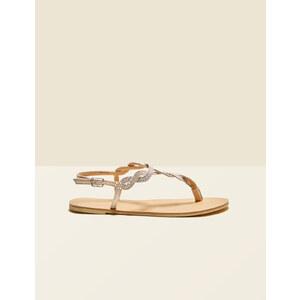 sandales plates à strass nude Jennyfer