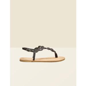 sandales plates à strass noires Jennyfer