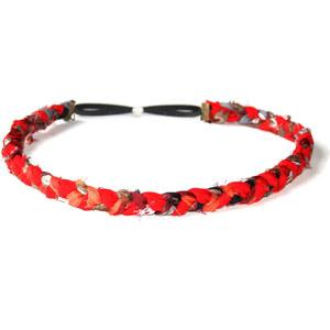 Sage et Sauvage Headband natté LINNA - rouge